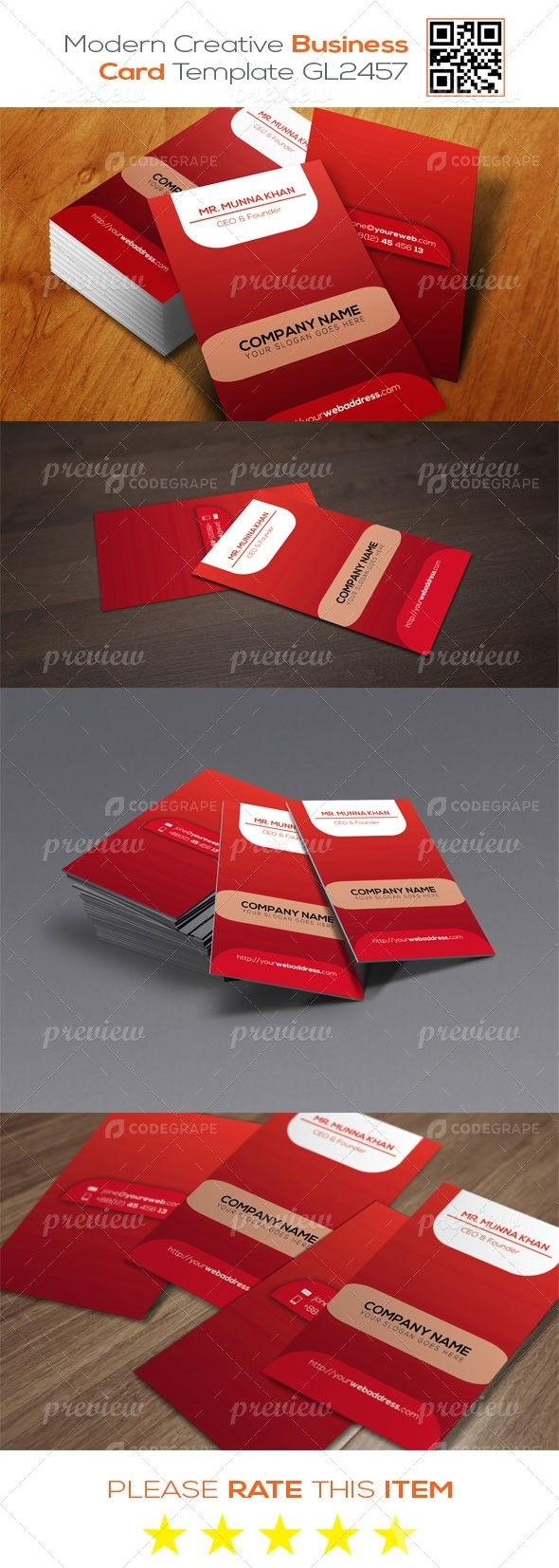 Modern  Creative Business Card Template GL2457