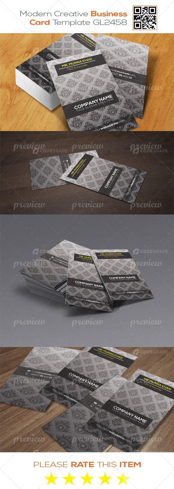 Modern  Creative Business Card Template GL2458