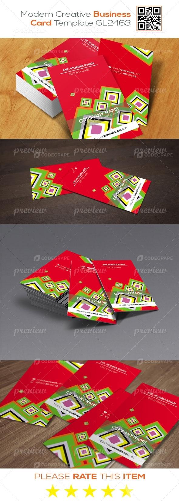 Modern Creative Business Card Template GL2463