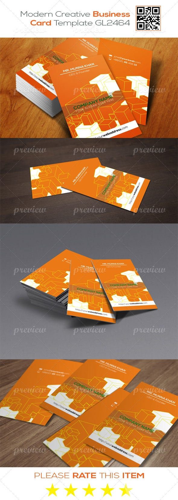 Modern Creative Business Card Template GL2464
