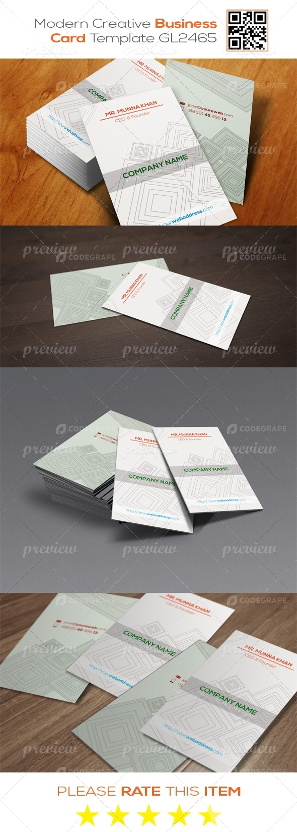 Modern Creative Business Card Template GL2465