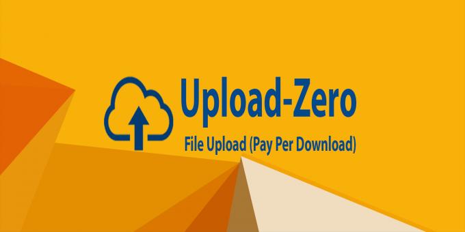 Upload Zero - Pay Per Download Script