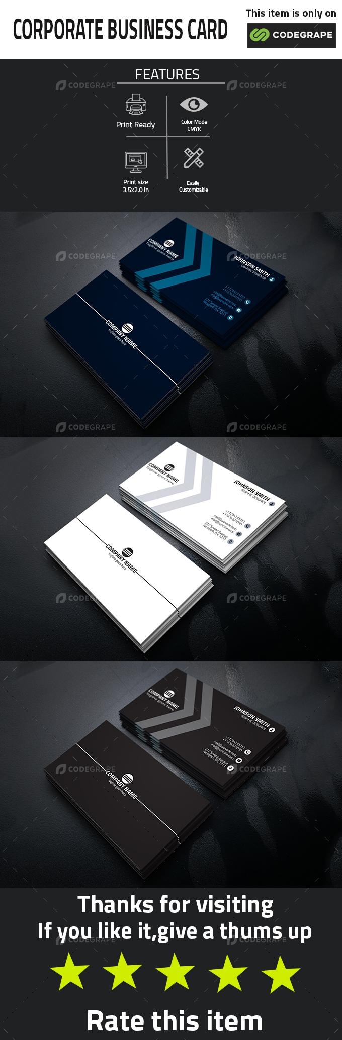 Corporate budiness card