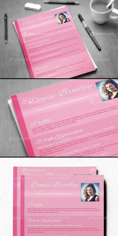 Pink Resume Design
