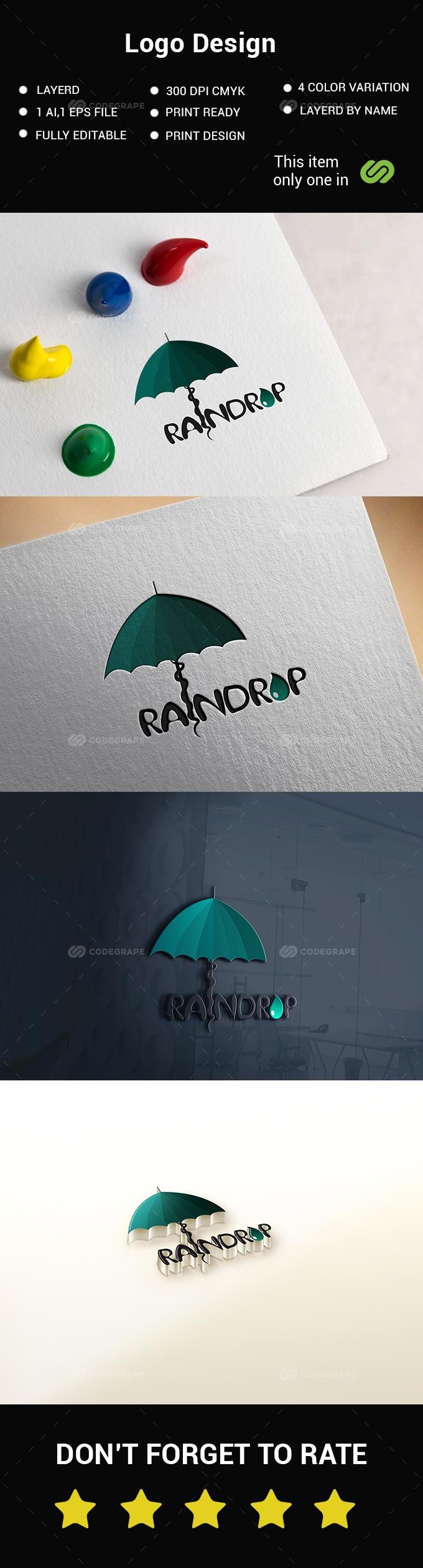 Rain/Umbrella Logo Design
