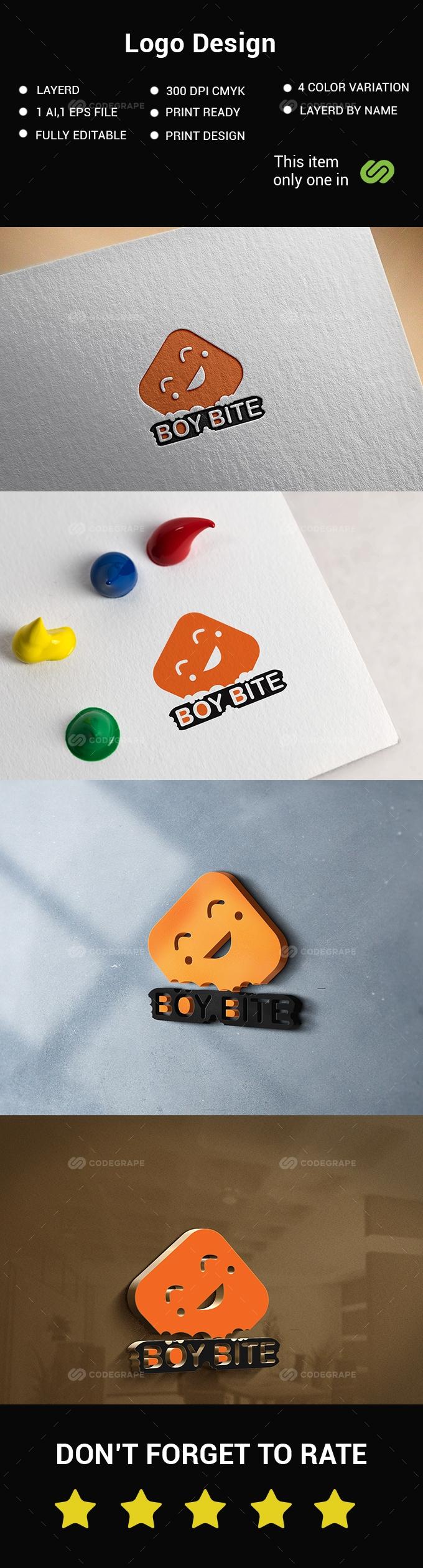 Boy Bite Logo Design