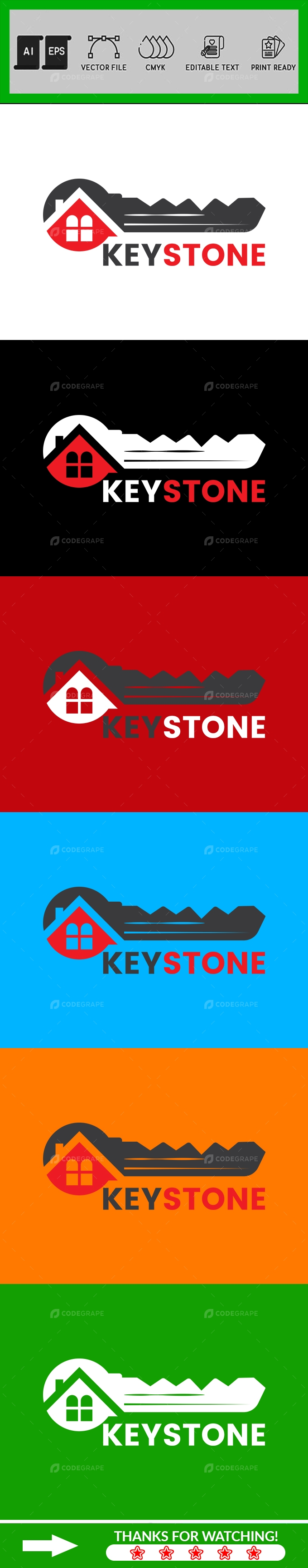 Keystone Logo Design Template