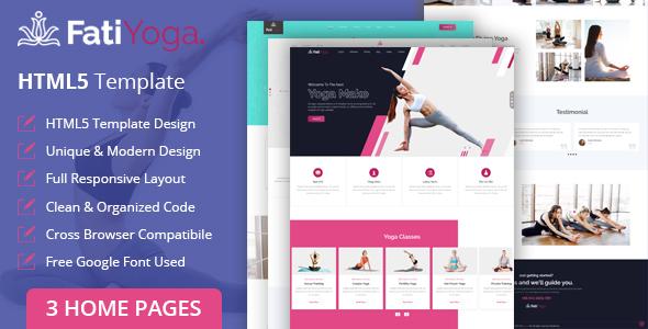 Fatiyoga - Yoga HTML Template