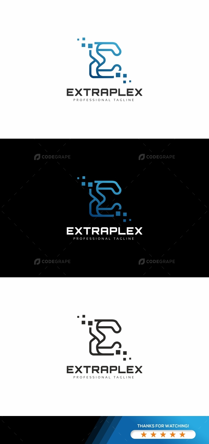 Extraplex E Letter Logo