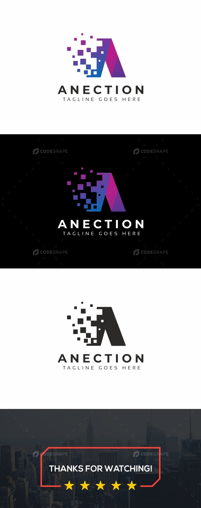 Anection A Letter Logo