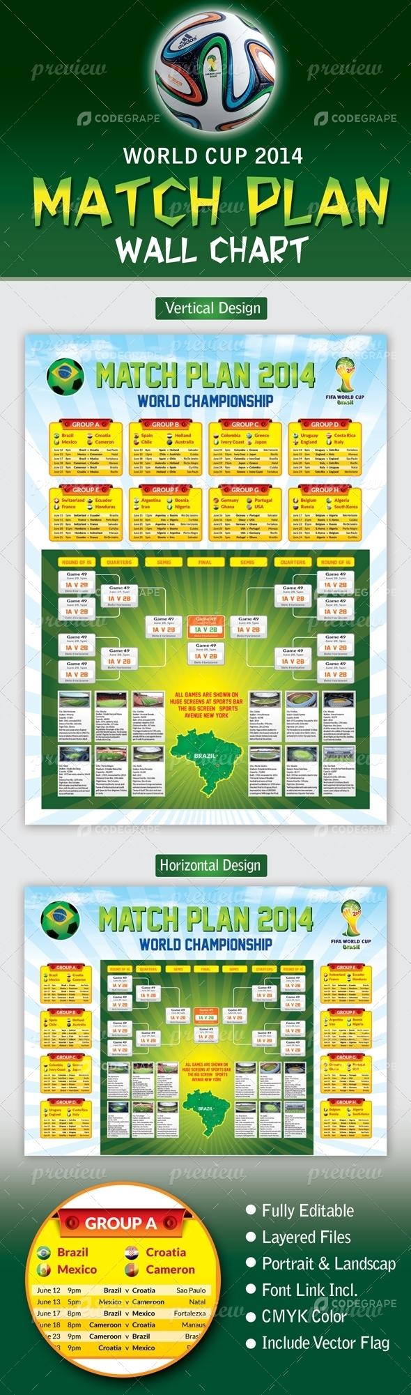 World Cup Matchplan 2018 Wallchart