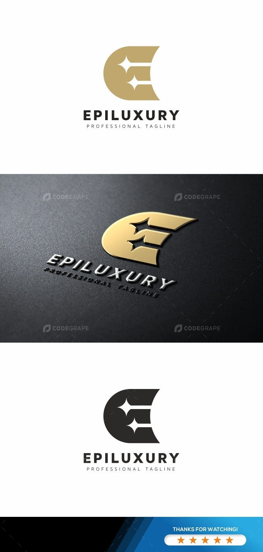 Epiluxury E Letter Logo