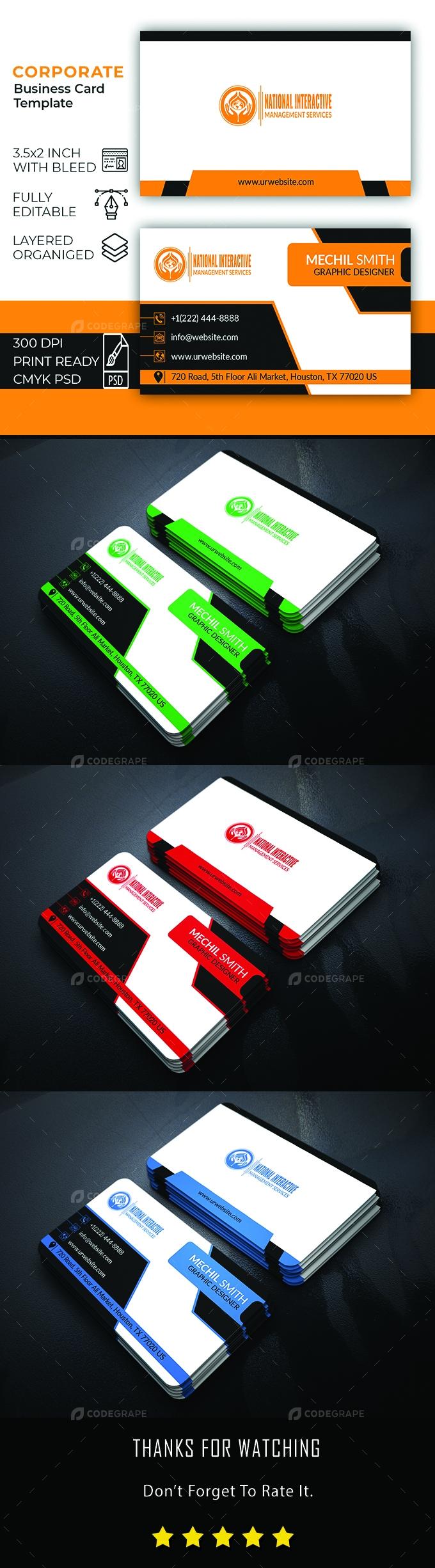 Corporate Business Card Design Template