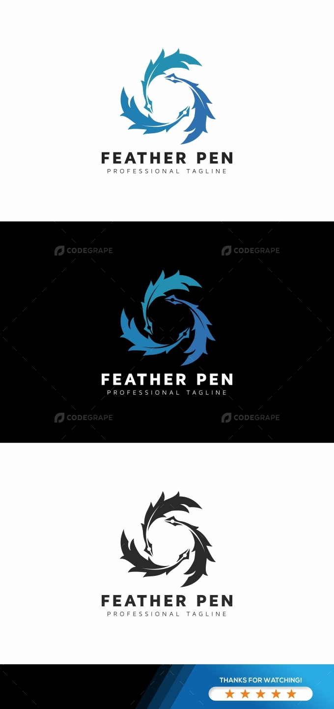 Feather Pen Logo