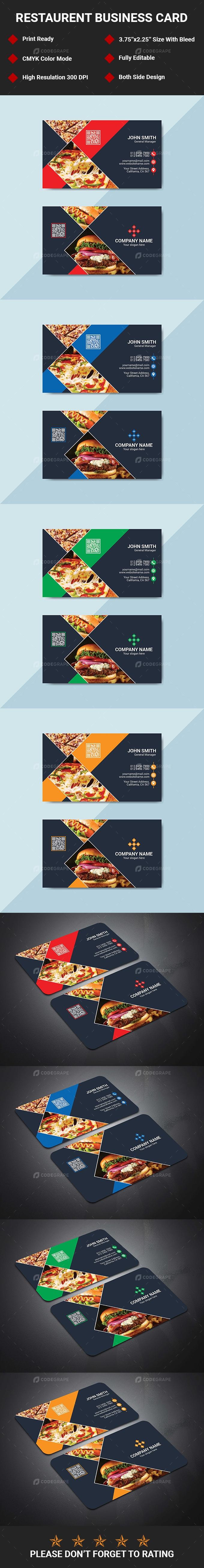 Restaurent Business Card