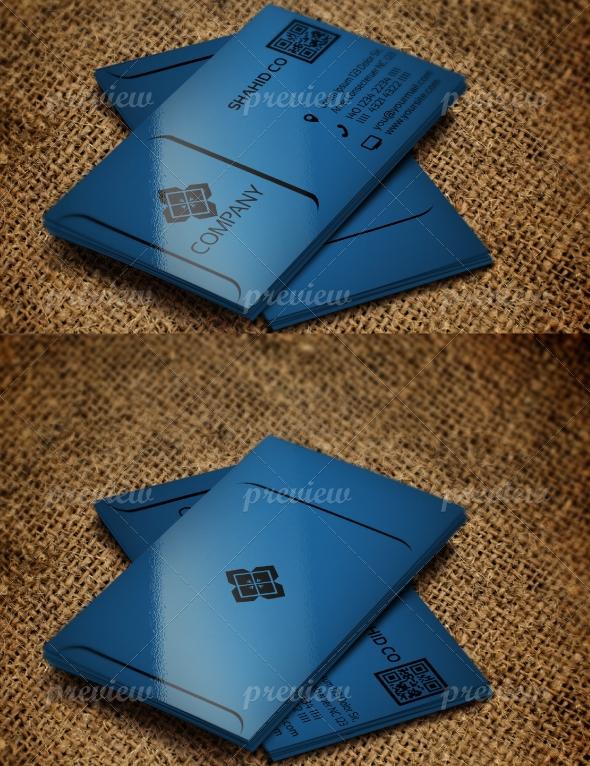 Jabbi V9 Blue Corporate Business Card