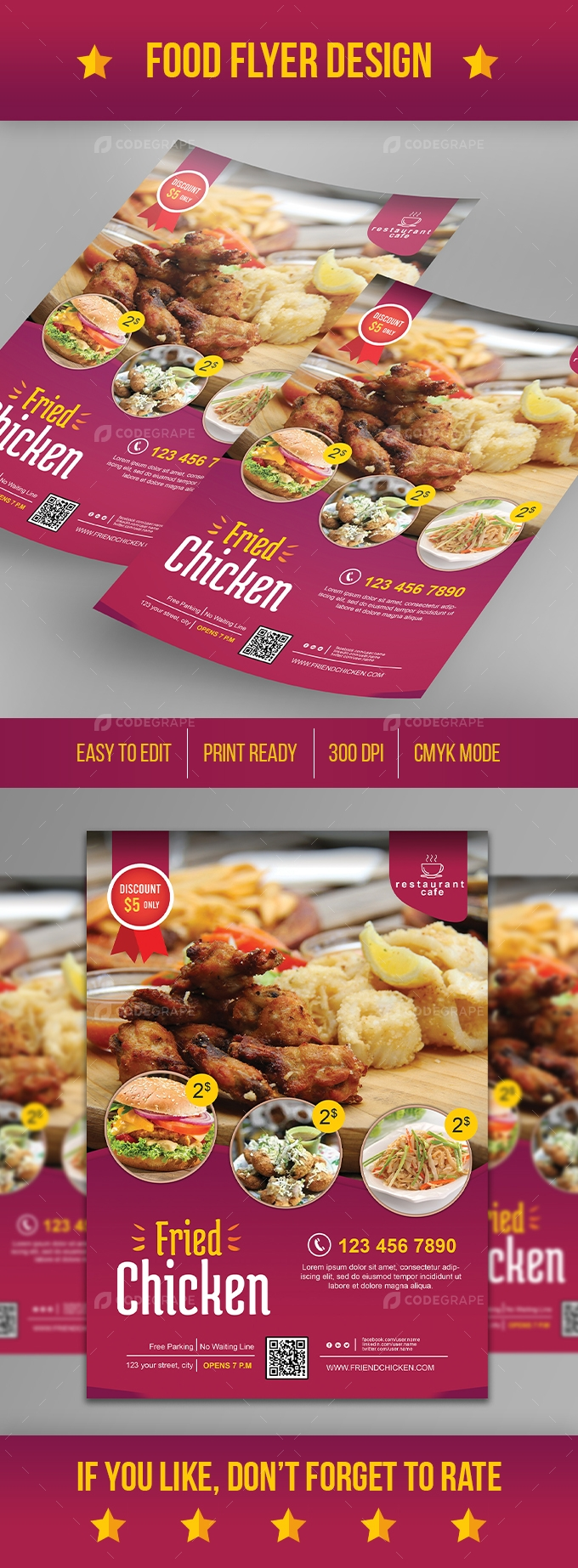 Modern Food Flyer Template - 02