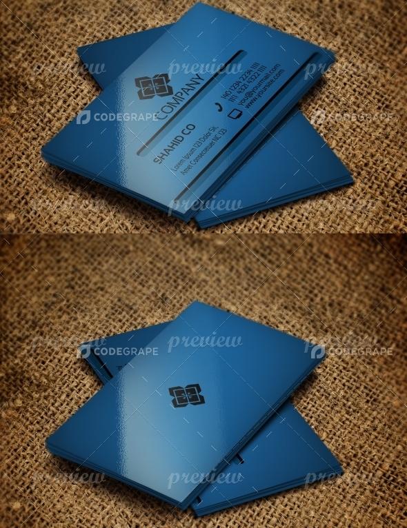 Jabbi V10 Simple Blue Corporate Business Card