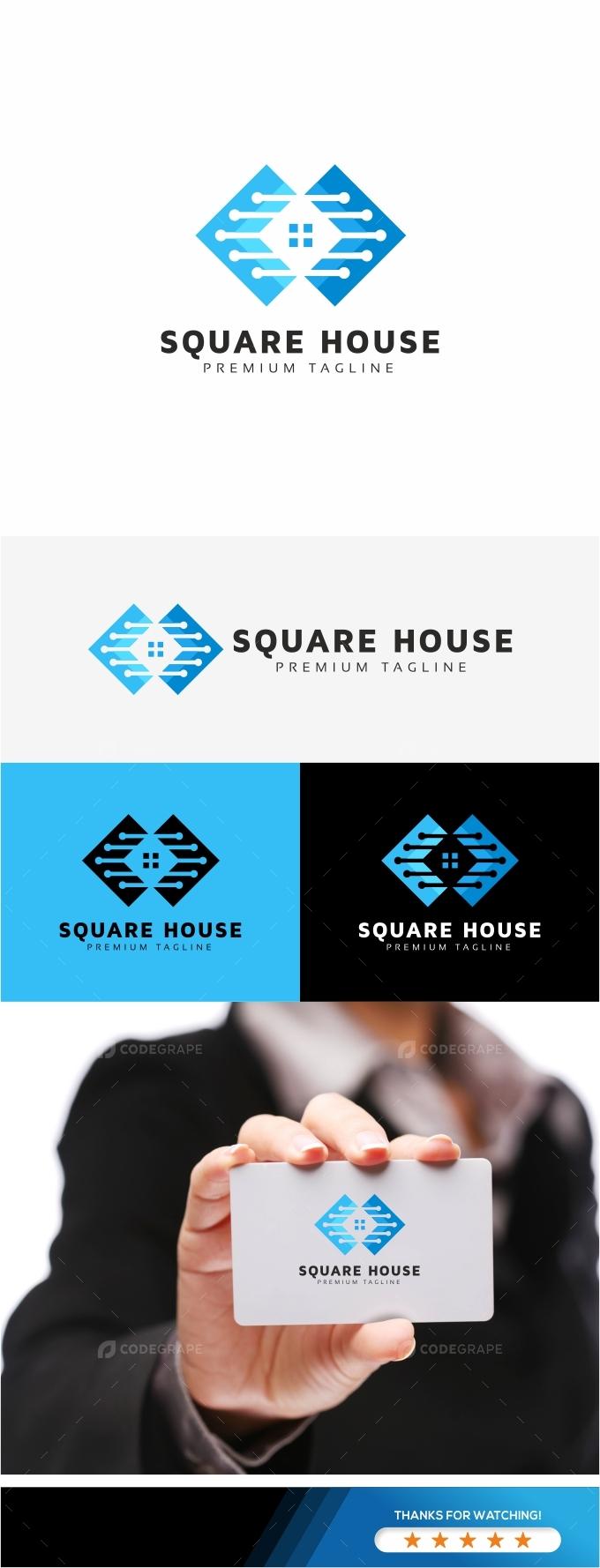 Square House Logo