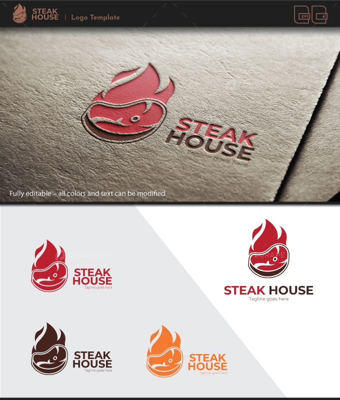 Steak Restaurant Logo