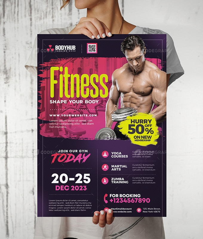 GYM Fitness Center Flyer Design