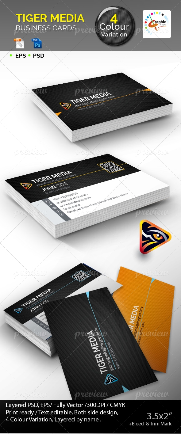 Tiger Media Business Cards