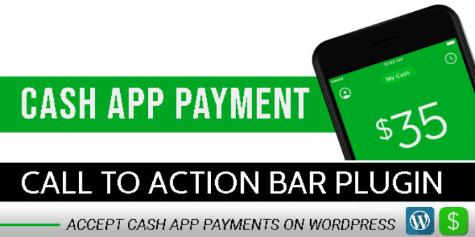 Cash App Payment - Call To Action Bar WordPress Plugin