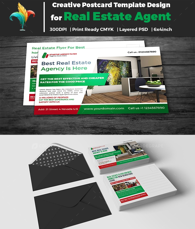 Real Estate Service Postcard Template