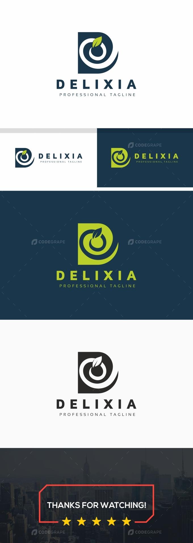 Delixia D Letter Logo