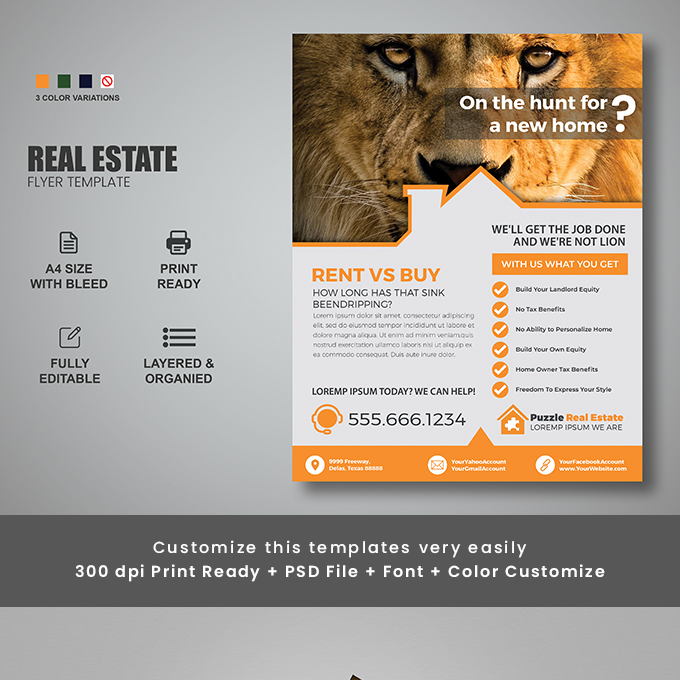 Real Estate Corporate Flyer Design
