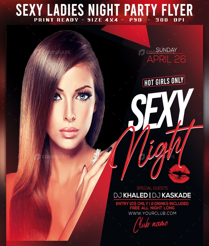 Sexy Ladies Night Party Flyer