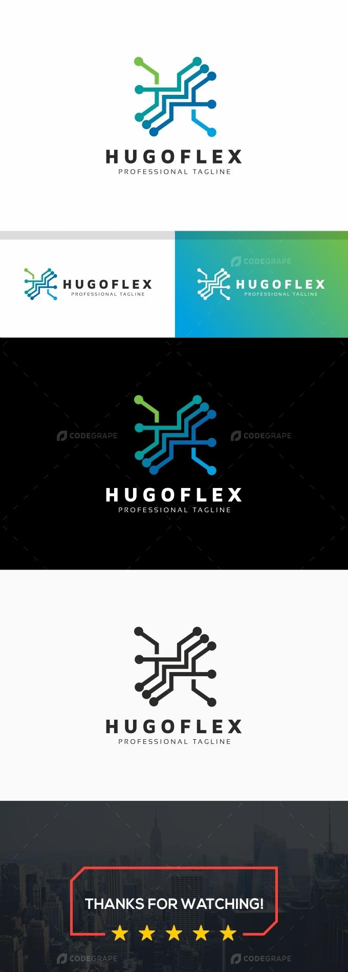 Hugoflex H Letter Logo