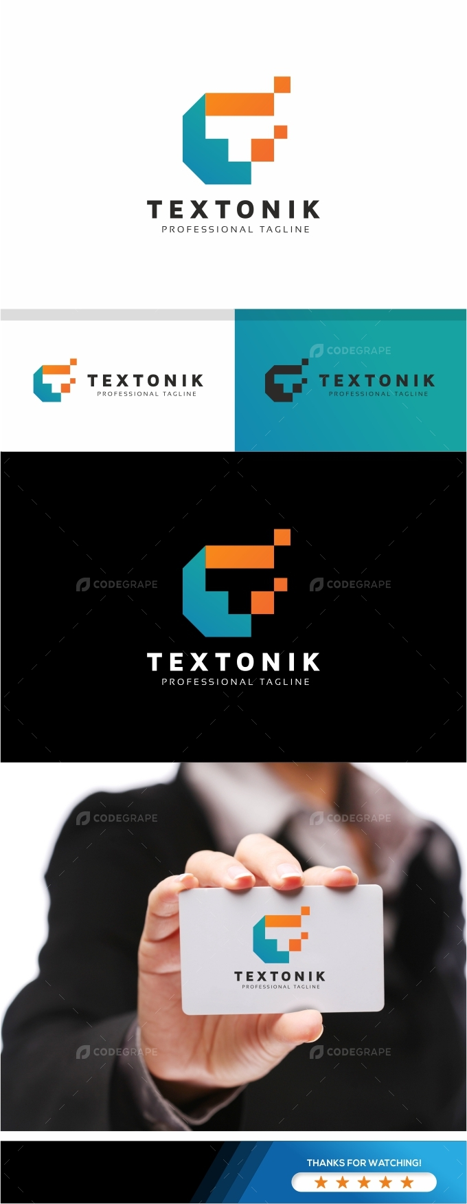 Textonik T Letter Logo