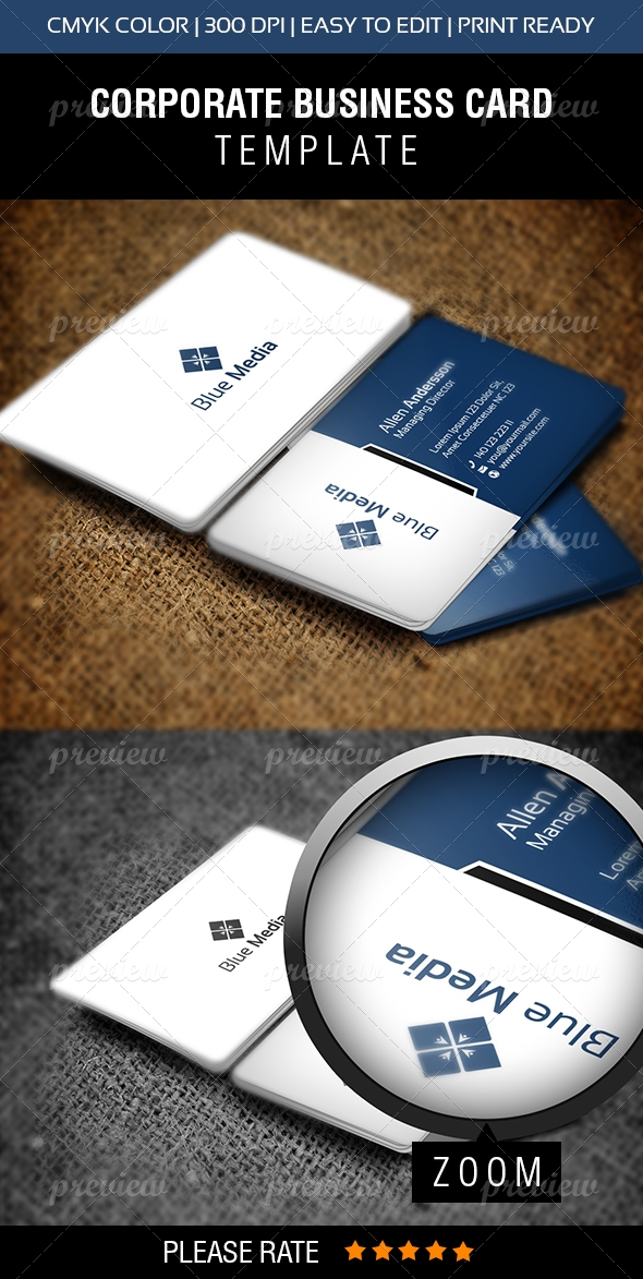 Blue Media Business Card