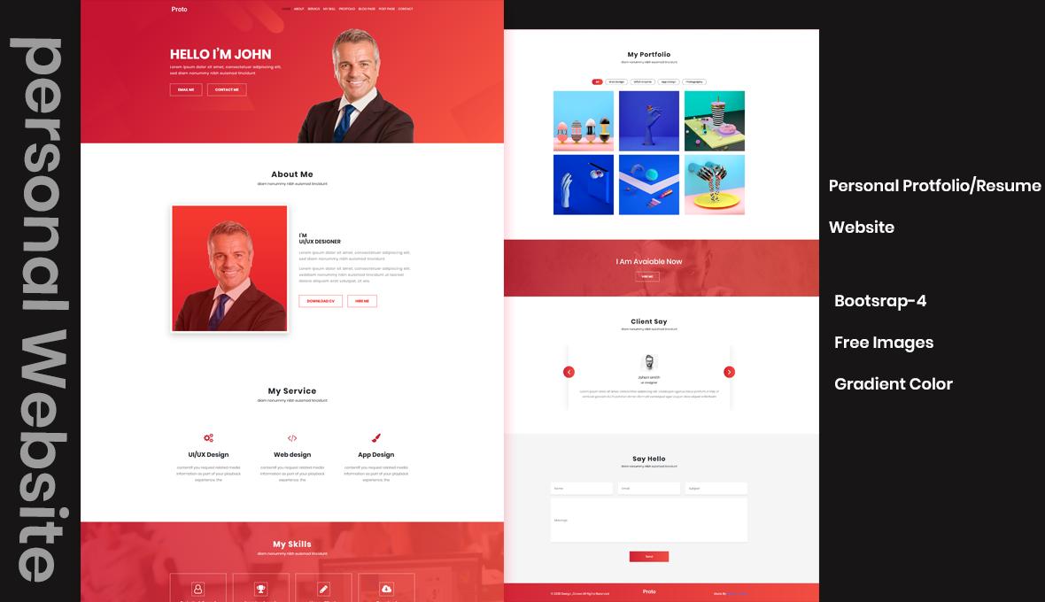 Proto Personal/Resume Website