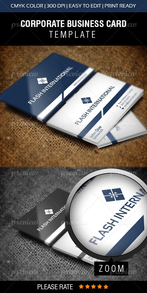 Flash International Business Card - Print | CodeGrape
