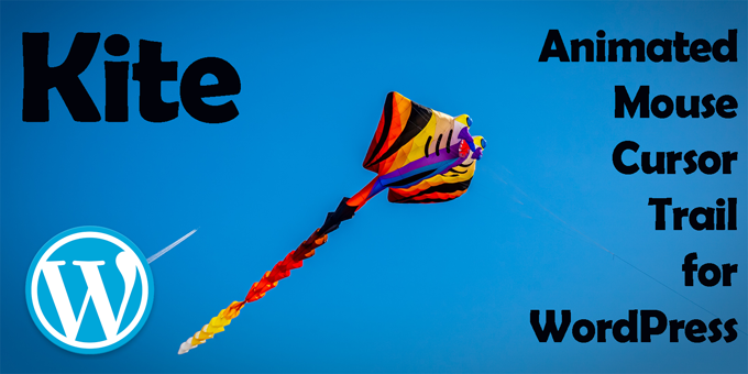 Kite - Animated Mouse Cursor Trail for WordPress