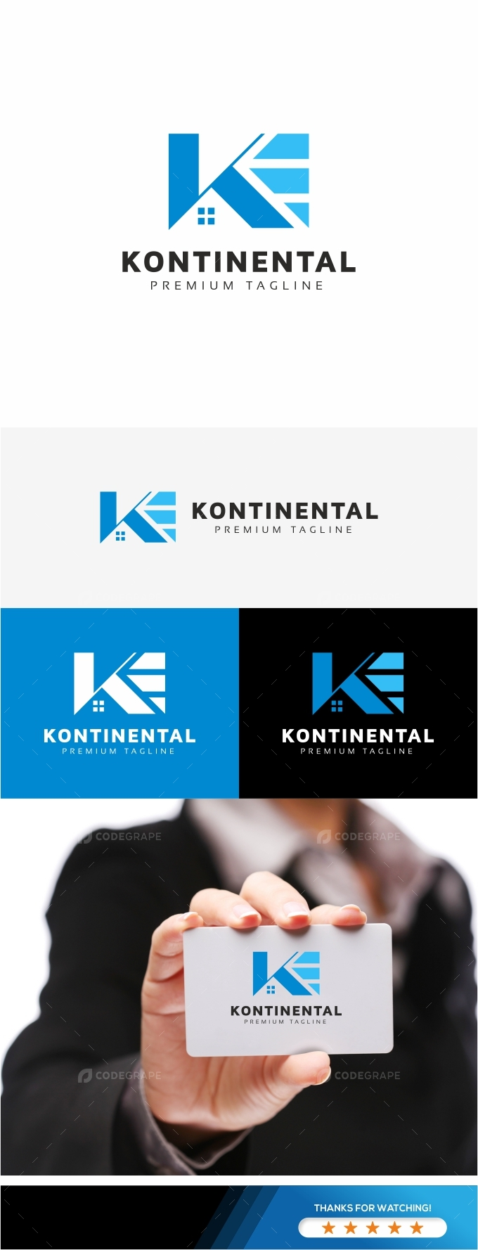 Kontinental K Letter Logo