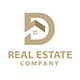 D Letter Real Estate Logo Template