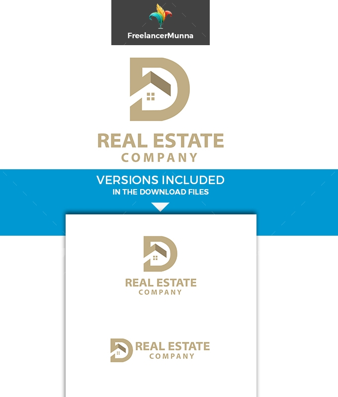 D Letter Real Estate Logo Template