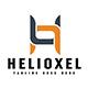 Helioxel  (H) Letter Logo Design