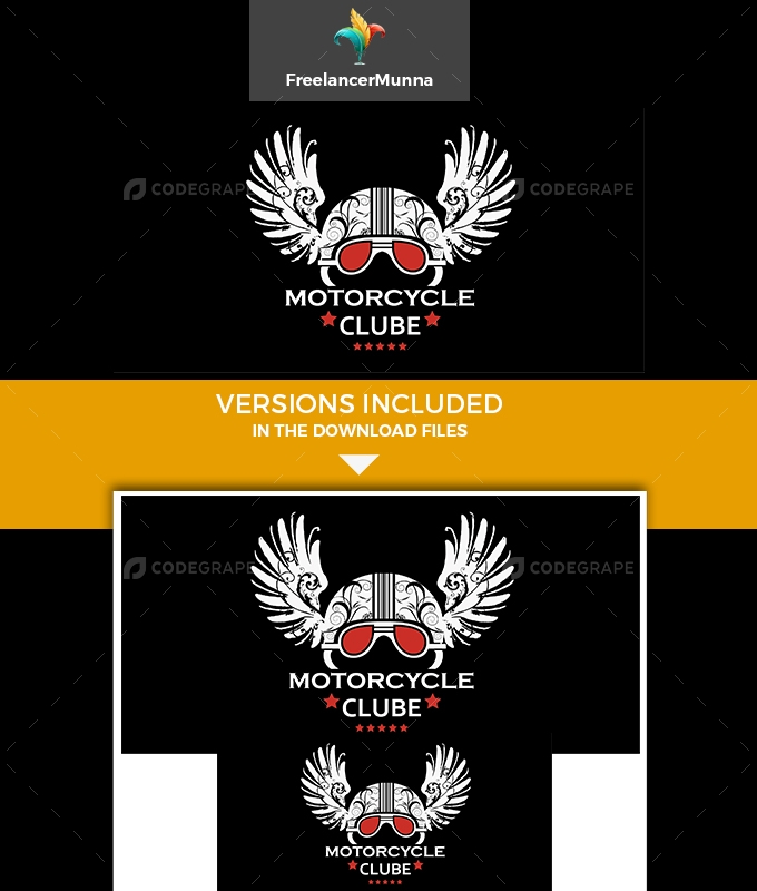 Motor Cycle Clube Logo Template