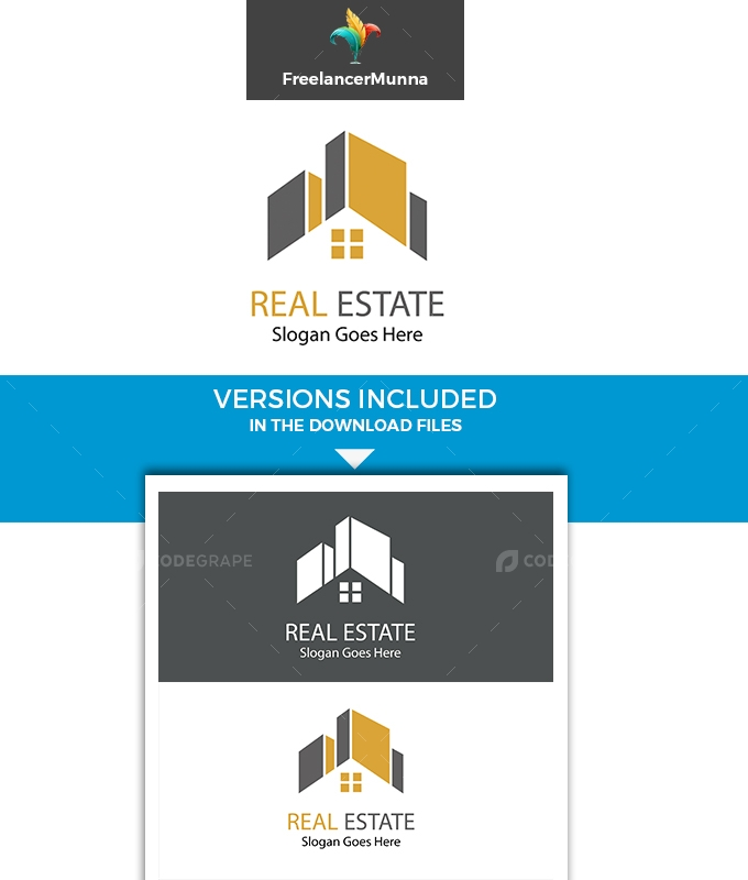 Real Estate Unique Logo Template