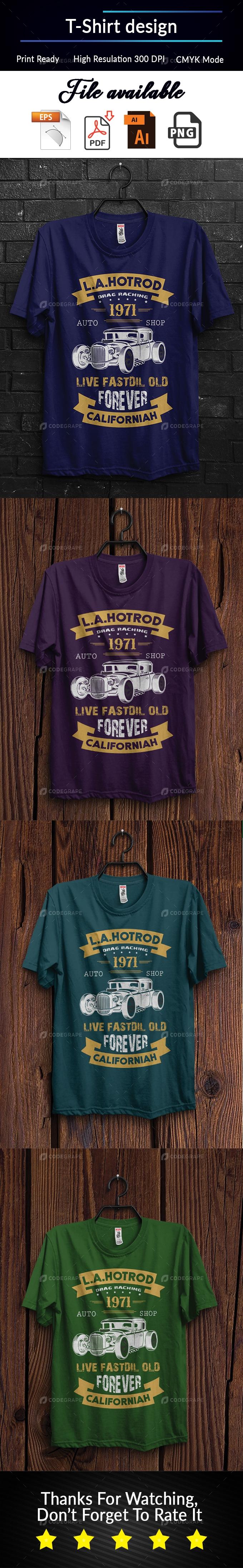 Hot Road T-Shirt Design