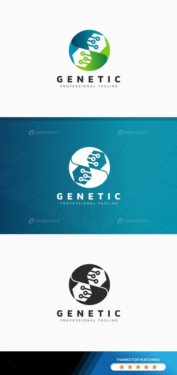 Genetic DNA Tech Logo