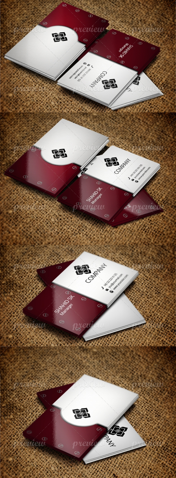 Jabbi V18 Business Card Design