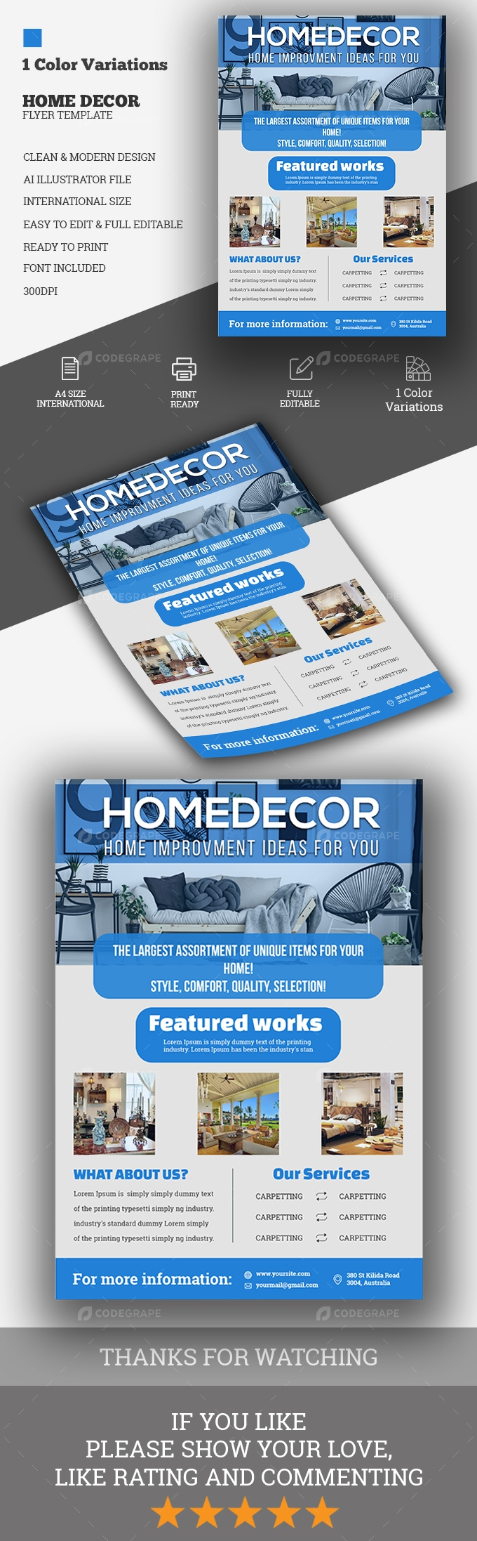 Home Decor Flyer Template