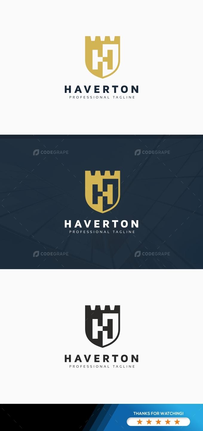 Shield H Letter Logo