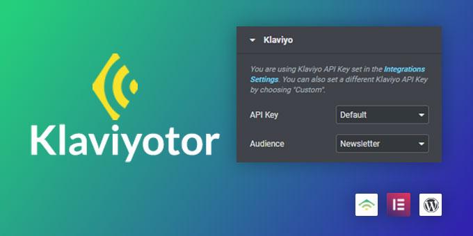Klaviyotor - Newsletter Service Elementor Pro Extension
