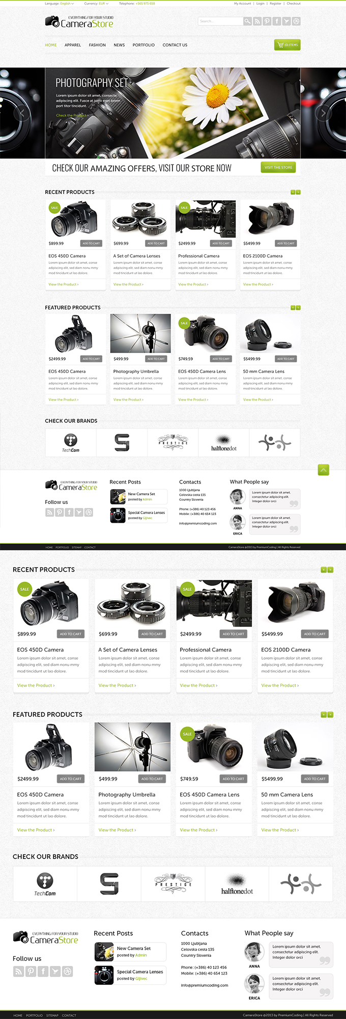 Camera Shop eCommerce PSD Template